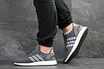 Мужские кроссовки Adidas Iniki (серо-белые) , фото 2