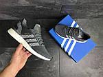Мужские кроссовки Adidas Iniki (серо-белые) , фото 4