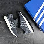 Мужские кроссовки Adidas Iniki (серо-белые) , фото 5
