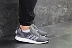 Мужские кроссовки Adidas Iniki (серо-белые) , фото 6