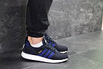 Мужские кроссовки Adidas Iniki (темно-синие с белым) , фото 3