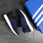 Мужские кроссовки Adidas Iniki (темно-синие с белым) , фото 4