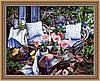 Раскраска по номерам MENGLEI Уютная веранда (MG016) 40 х 50 см