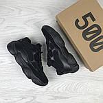 Женские кроссовки Adidas Yeezy 500 (черные) , фото 6