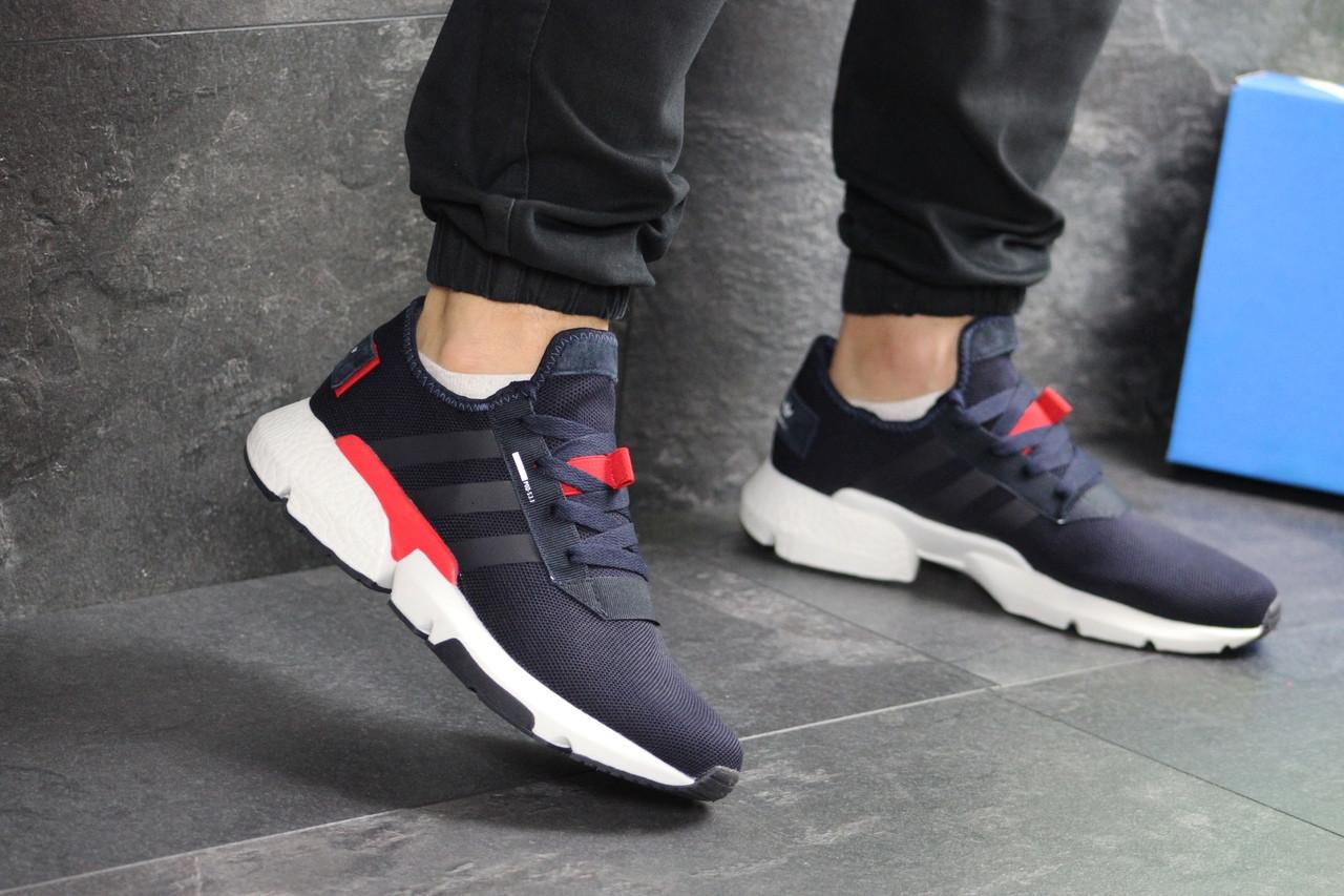 Мужские кроссовки Adidas POD-S3.1 (темно-синие с белым/красным)