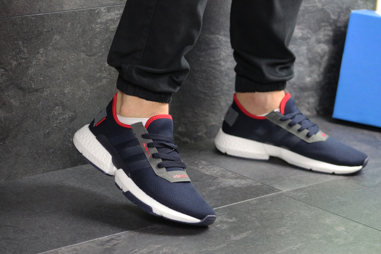 Мужские кроссовки Adidas POD-S3.1 (темно-синие)