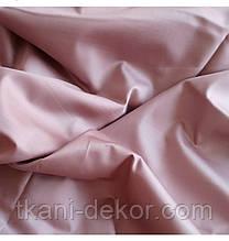 Сатин (бавовняна тканина) чайна троянда однотон