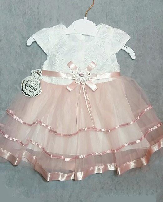 Нарядное платье с цветком для девочки на 1 год