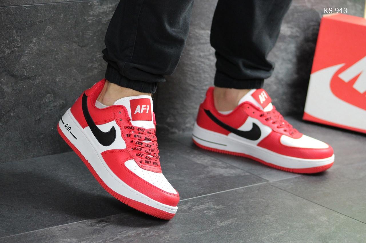 deb29c6c7ffafe Мужские кроссовки Nike Air Force AF 1 (красно-белые), цена 1 145 грн ...
