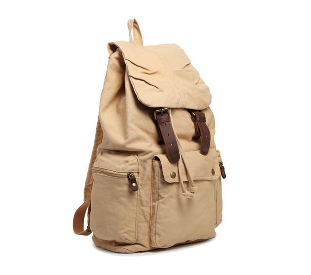 Городской рюкзак | бежевый | вид сбоку