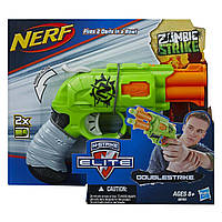 Пистолет Нерф Двойной удар по зомби - Double Strike, Zombie Strike, Nerf, Hasbro - 138337