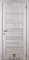 """Межкомнатные двери ТМ """" Ostium elite"""" Дуб Немо серебристый S-1, стекло """" Лакомат"""""""