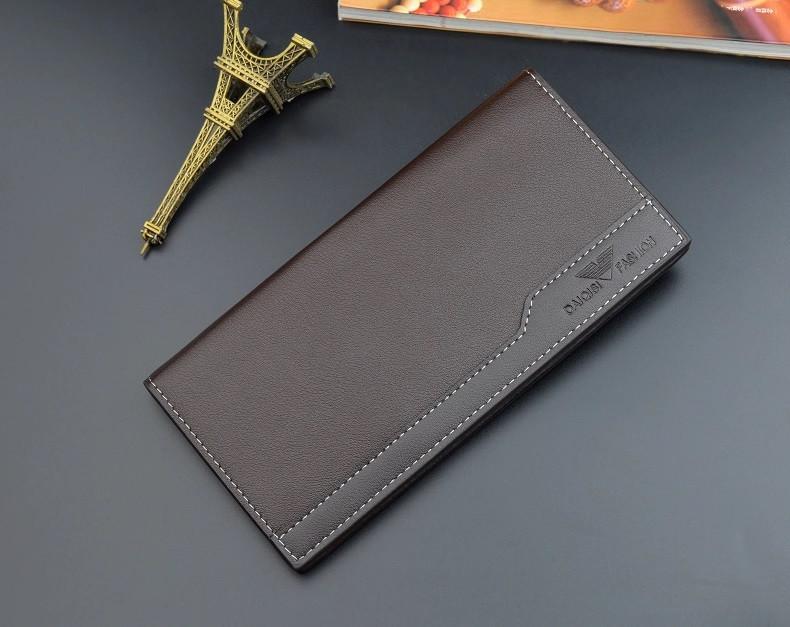 Чоловічий гаманець DAIQISI FASHION Men's Card Wallet портмоне Коричневий (SUN3674)