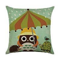 Подушка декоративная Звери под зонтом 45 х 45 см Berni, фото 1