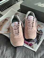 Женские кроссовки New Balance 574 (Premium-class) розовые