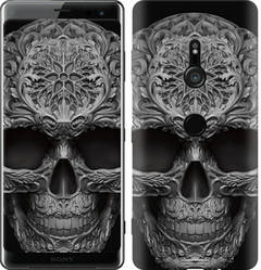 "Чехол на Sony Xperia XZ3 H9436 skull-ornament ""4101c-1540-328"""