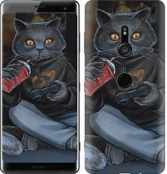 "Чехол на Sony Xperia XZ3 H9436 gamer cat ""4140c-1540-328"""