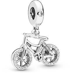 Серебряная подвеска-шарм «Бриллиантовый велосипед»
