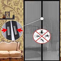 Сетка антимоскитная Magic Mash 210*100, москитная сетка занавеска, антимоскитная штора на дверь, фото 1