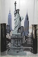 Шторка для душа ванной Статуя свободы, фото 1