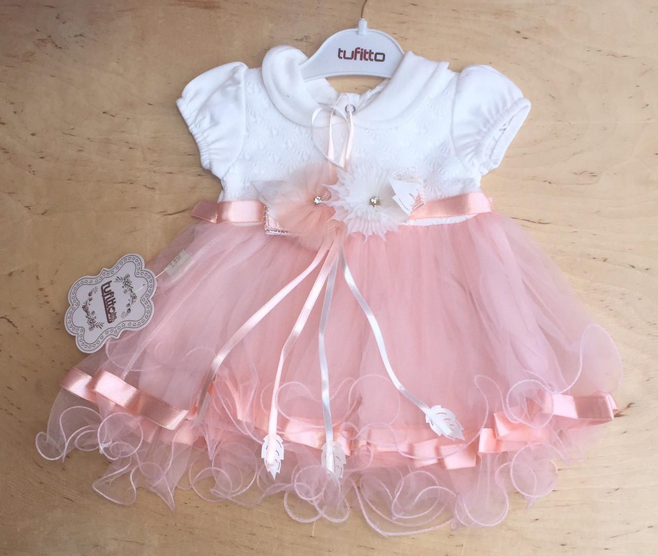 Нарядное пышное платье для девочки Турция на 1 год