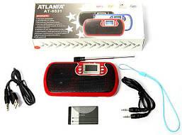 Портативная радиоприемник МР3 колонка мини ATLANFA AT-6531 от USB флешек, microSD, выход на наушники