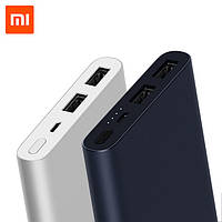 Xiaomi Mi Power Bank 2s 10000 mAh 2xUSB QC2.0 PLM09ZM Black , фото 1