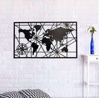 Декоративное панно из дерева Векторная карта
