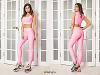 Женский костюм для фитнеса с лосинами и топом 3105588