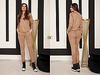 Женский замшевый костюм с лосинами и кофтой 3105593, фото 1