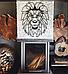 Декоративное панно из дерева Лев, фото 4