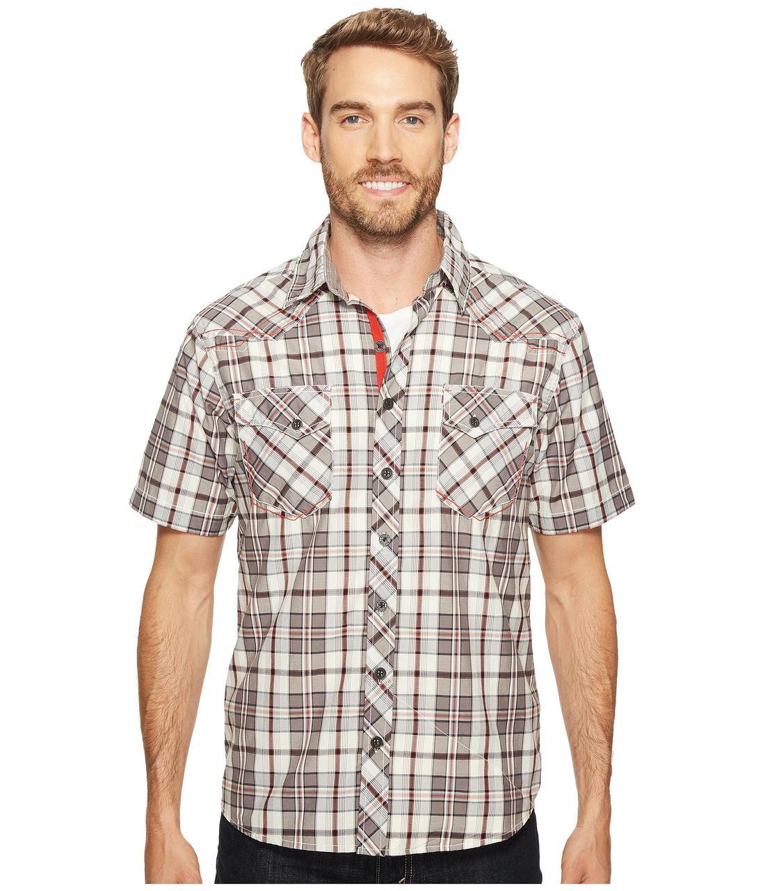 6d32127a481 Рубашка Ecoths Rowan Short Sleeve Shirt Gray - Оригинал - FAIR -  оригинальная одежда и обувь