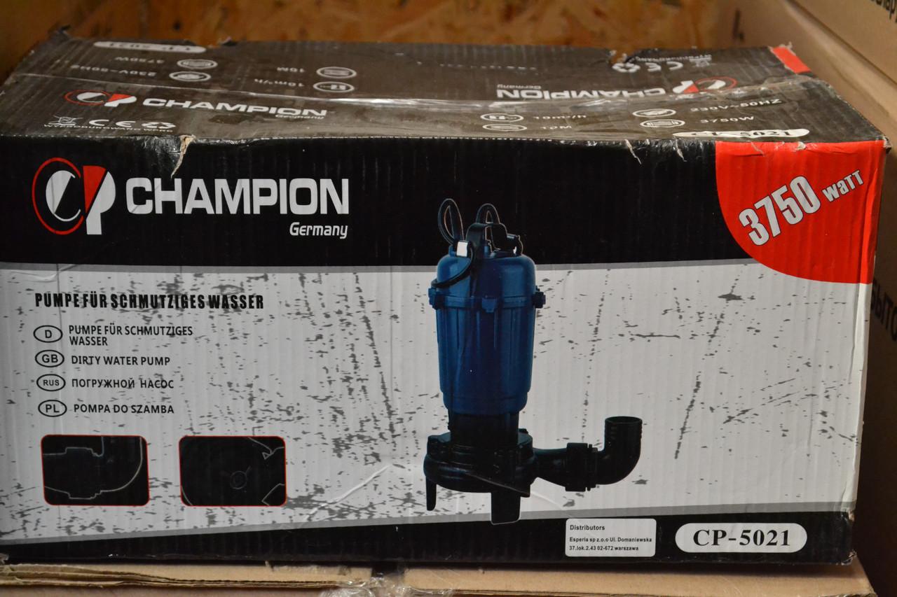 Фекально-дренажний насос CHAMPION Germany CP5021