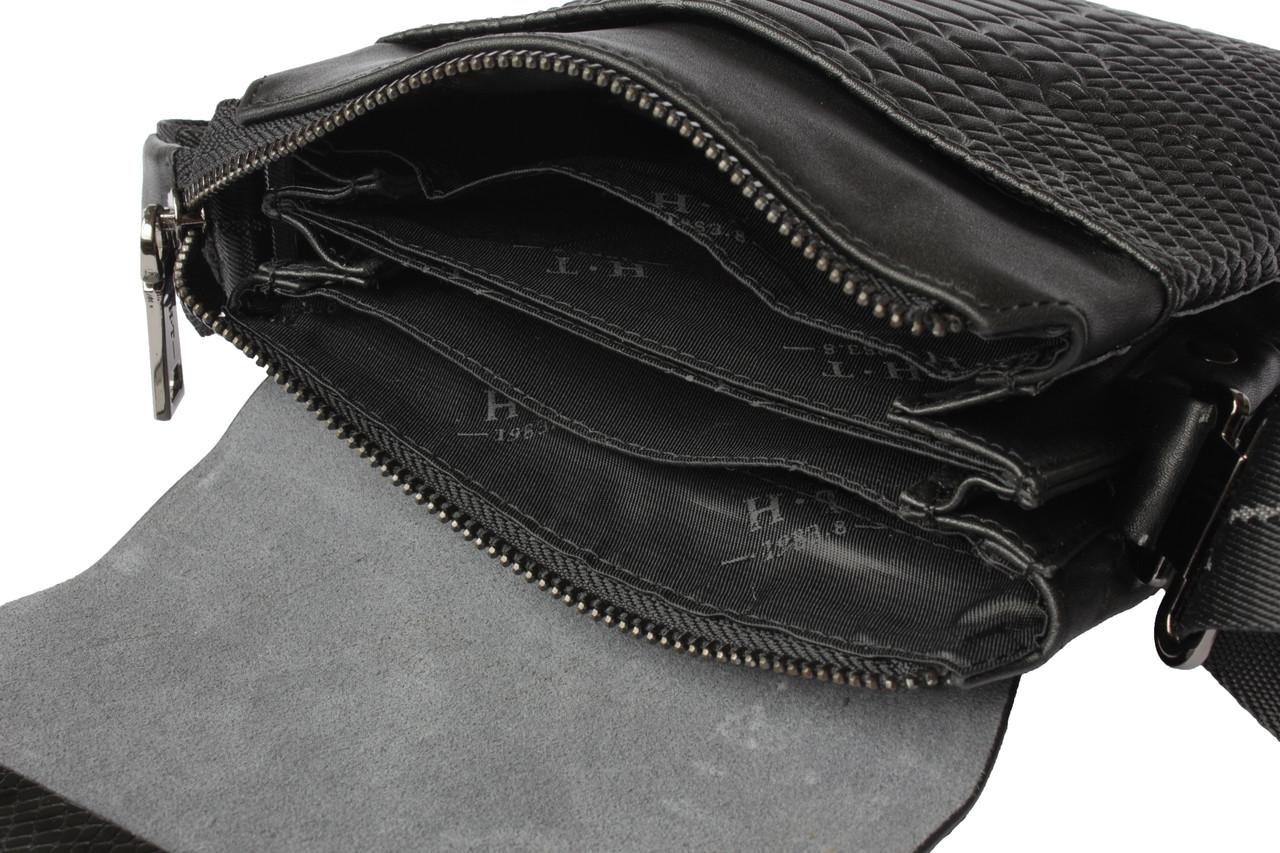 437bd81be7f9 Сумка мужская черная натуральная кожа HT, цена 1 870 грн., купить в Харькове  — Prom.ua (ID#87513283)