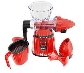Соковитискач і морожениця ручна 2 в 1 Kitchen Master LMY-662 Red (5140)
