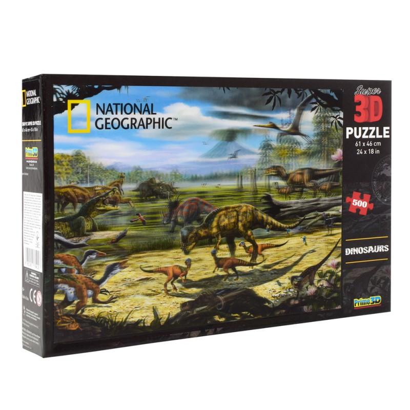 Пазлы с эффектом 3D на 500 деталей (эпоха динозавров), 10087