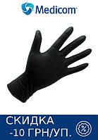 Перчатки нитриловые SAFETOUCH ADVANCED BLACK MEDICOM 10 УП 1000 ШТ (ЧЕРНЫЕ) XS