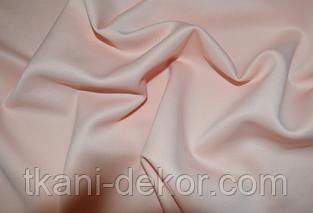 Сатин (бавовняна тканина) світлий персик однотон
