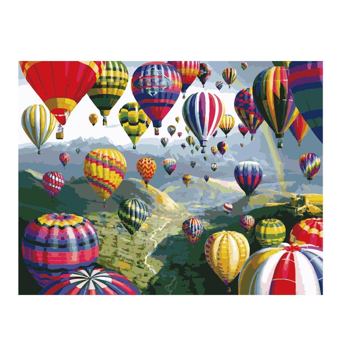 Картина по номерам Роспись на холсте Воздушные шары КНО1056 40*50 см