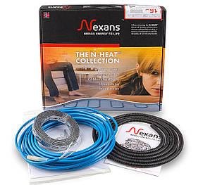 Теплый пол в стяжку под ламинат, кафель 6,0-7,3 м.кв. 1000 Вт. Двухжильный кабель Nexans. Гарантия 20 лет.