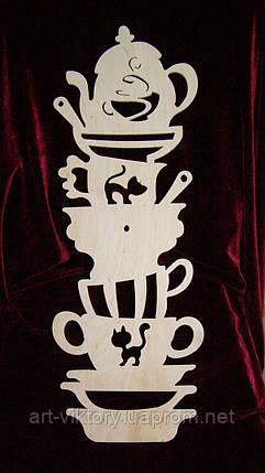 Часы горка посуды с кошечками (59,5 х 21 см), декор, фото 2