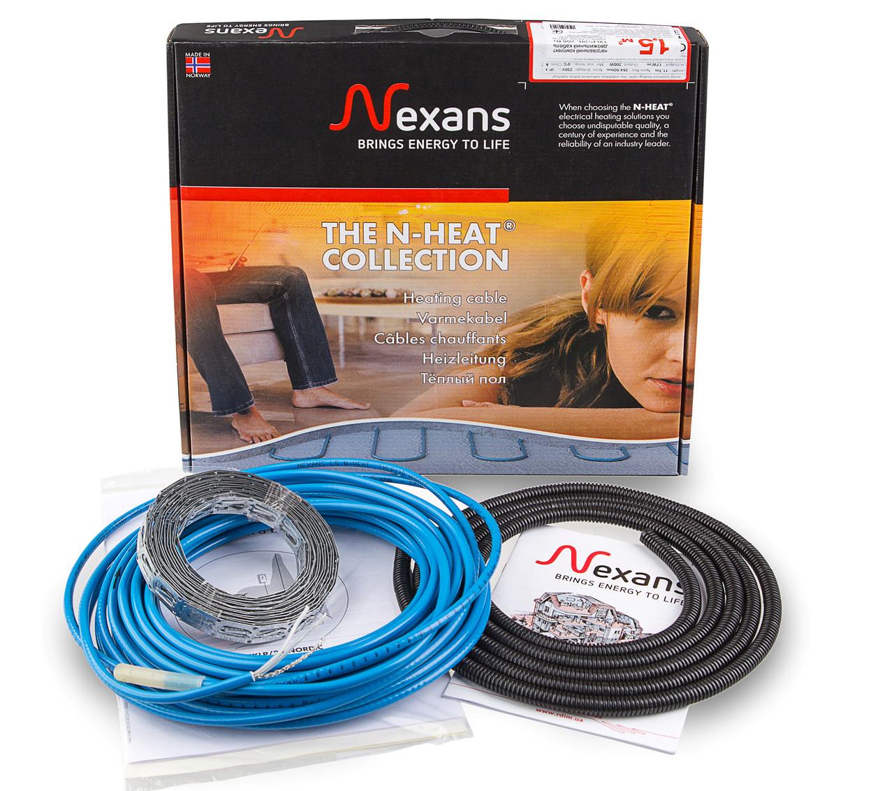 Теплый пол в стяжку под ламинат, кафель 7,0-9,1 м.кв. 1250 Вт. Двухжильный кабель Nexans. Гарантия 20 лет.