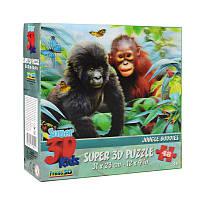 Пазлы с эффектом 3D на 100 деталей (Малыши обезьян), 13521