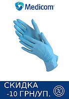 Перчатки нитриловые SAFETOUCH ADVANCED SLIM BLUE MEDICOM 10 УП 1000 ШТ (ГОЛУБЫЕ)