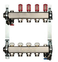 Распределитель для пола. отопление из нерж. стали с расходомером HERZ 3l/min-TS, 12 отводов