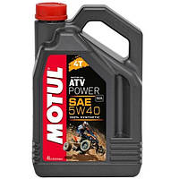 Моторное масло Motul ATV Power 4T SAE 5W-40 4 л (105898)