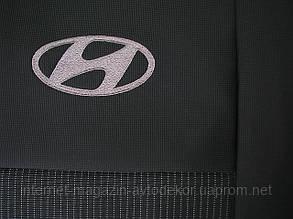 Чехлы фирмы EMC Элегант тканевые для Hyundai Accent 2017-
