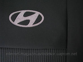 Чехлы на сиденья EMC Элегант тканевые для Hyundai Accent 2017-