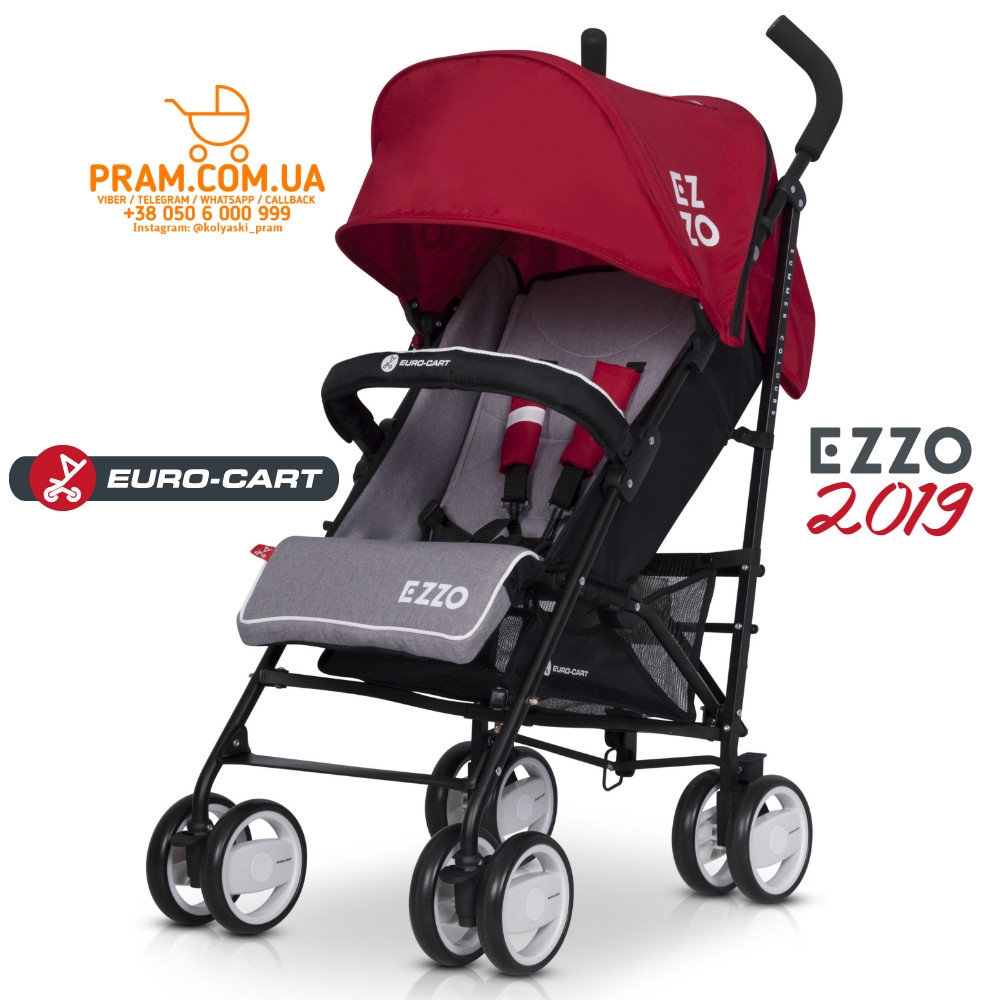 EURO-CART EZZO 2019 прогулочная коляска Scarlet Красный