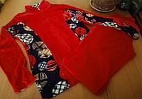 Велюровый женский спортивный костюм, красный Турция